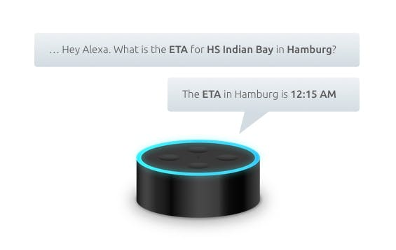 Just one of the many options for smart speakers in shipping