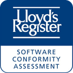 Software conformity certificate issued by LR Lloyds Register of Shipping